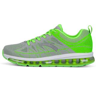 ANTA 安踏 91535501-1 男士全掌气垫跑步鞋 浅灰/荧光电子绿/安踏白/银色 43