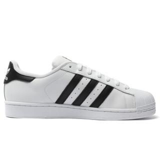 adidas 阿迪达斯 C77124  中性金标贝壳头板鞋 (43、白色)