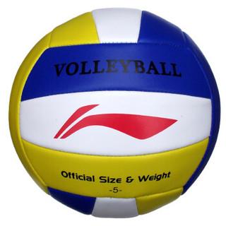 李宁LI-NING  经典款男女比赛5号排球训练沙滩软排球paiqiu LVQH002-1