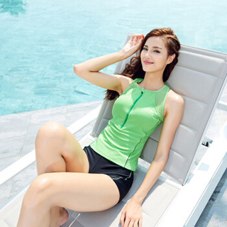 LI-NING 李宁 LSLM 114 女士分体游泳衣 绿 M