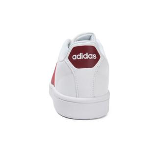 adidas 阿迪达斯 NEO CF ADVANTAGE DA9636 中性休闲鞋 白/红 44