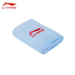 李宁 羽毛球 运动毛巾 吸汗健身游泳 速干冷感毛巾 两条装 LSJK766 蓝/绿