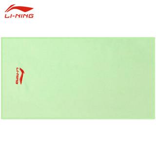 李宁 羽毛球 运动毛巾 吸汗健身游泳 速干冷感毛巾 LSJK766-4 绿色