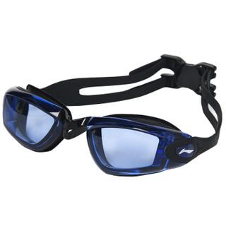 LI-NING 李宁 617-874 男女士游泳眼镜泳帽套装 蓝色 近视500度