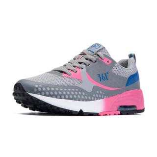 361° 361度 581632213-1 女士网面慢跑鞋 (35、6U灰/桃红)