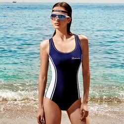 范德安保守泳衣女遮肚显瘦抗氯疏水连体游泳衣 聚拢运动温泉泳装