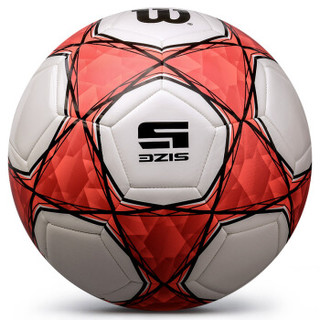 威尔胜Wilson 足球 标准5号PU机缝成人比赛zuqiu WS205M红色