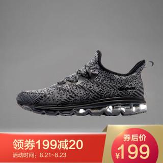 361° 361度 671722213-7 男士跑步鞋 (44、乌黑色/烟灰)