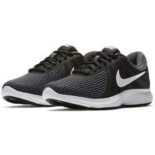 NIKE 耐克 Revolution 4 女子跑鞋 908999-001 黑/白 36