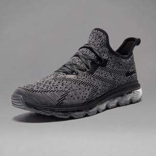 361° 361度 671722213-7 男士跑步鞋 (42、乌黑色/烟灰)
