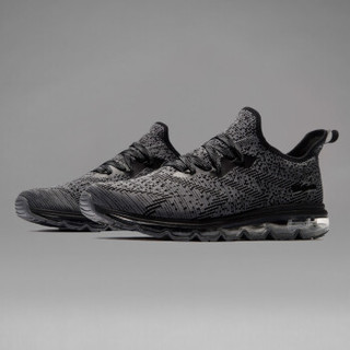 361° 361度 671722213-7 男士跑步鞋 (41、乌黑色/烟灰)