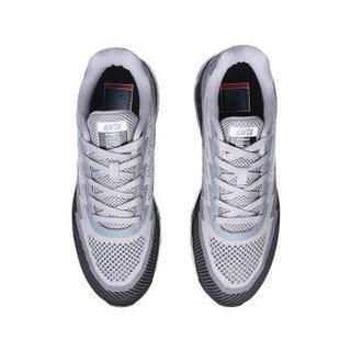 ANTA 安踏 91625505-1 男士全掌气垫跑步鞋 浅灰/中灰/黑/安踏白 40.5