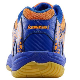 KAWASAKI 川崎 K-061D 男女羽毛球鞋 (蓝色、39)