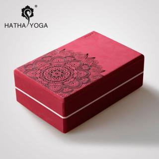 哈他瑜伽砖高密度环保瑜伽辅助用具艾扬格瑜珈舞蹈工具泡沫砖 脂红
