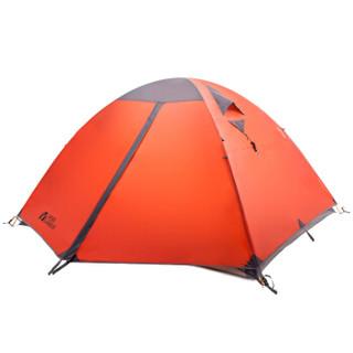 牧高笛 防大风防暴雨铝杆三季三人双层帐野外野营帐篷 冷山3 NXZQU61008 红色