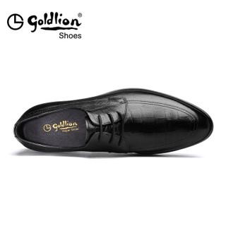 goldlion 金利来 520810073ADA 男士商务正装皮鞋 黑色 41