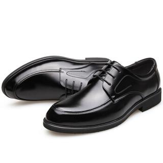 CARTELO 卡帝乐鳄鱼 2512 男士商务系带皮鞋 黑色 43