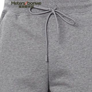 Meters bonwe 美特斯邦威 602027 男士印花针织休闲裤 泥深灰 170/76A
