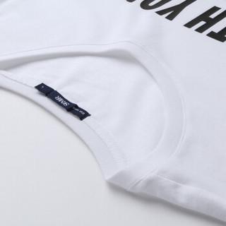 Semir 森马 12037001050 男士印花短袖T恤 漂白 S