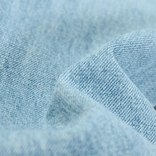 A21 4821010000 男士破洞小直筒牛仔裤 浅蓝 38