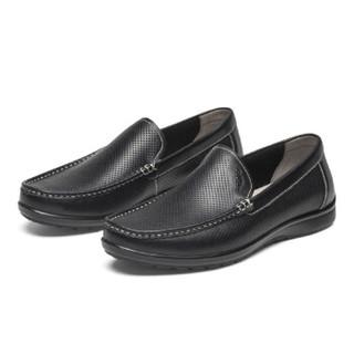 goldlion 金利来 596720087ALD 男士套脚休闲皮鞋 黑色 42