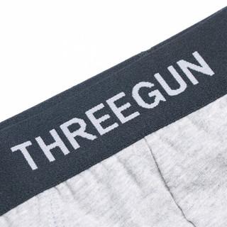THREEGUN 三枪 1840Z435B3 男士内裤 (3枚装、2XL、军绿+浅麻灰+深麻灰)