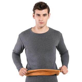 恒源祥 ZC008 男士厚款保暖衣裤 (圆领、170(L)、深灰)