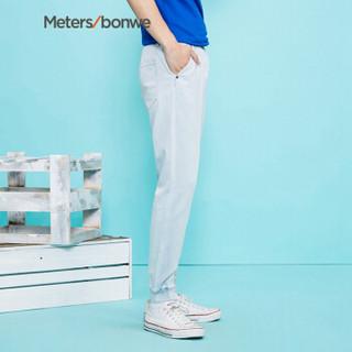 Meters bonwe 美特斯邦威 756090 男士针织牛仔裤 牛仔浅蓝 165/68