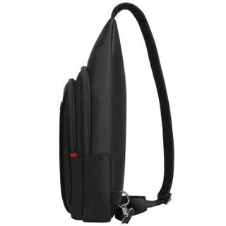 SWISSGEAR胸包 商务休闲多功能潮流单肩包运动小背包防泼水户外斜挎腰包9.7英寸iPad包 SA-7719IIImini 黑色