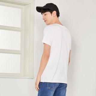 Semir 森马 12037001050 男士印花短袖T恤 漂白 XL