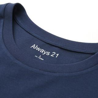 A21 4821330000 男士短袖T恤 深蓝 L