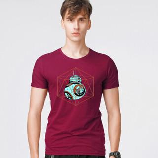 CARTELO 18172KE18020 男士圆领短袖t恤 美枣红 3XL