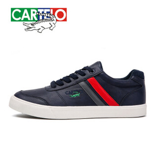 CARTELO 卡帝乐鳄鱼 KDL160712 男士运动板鞋 蓝色 40