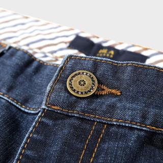 HLA 海澜之家 HKNAW3N001A 男士中腰直筒牛仔长裤 牛仔蓝 170/78A