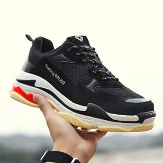 CROSSGEAR RSJD-1604808 男女士透气网鞋老爹鞋 黑色 35