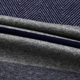 ZHAN DI JI PU 16001Z5004 男士条纹修身针织衫 灰色 XL