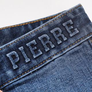 pierre cardin 皮尔·卡丹 0800-203810 男士直筒牛仔裤 蓝色 32