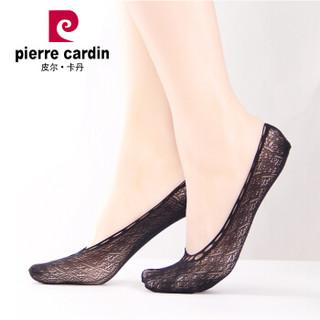 皮尔卡丹船袜短丝袜女短袜12双装防勾丝女夏日船袜带胶黑色均码PC32006A-7-20X12