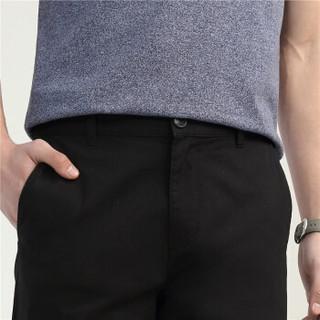 GIORDANO 佐丹奴 1313128205 男士中低腰休闲裤 黑 170/80A