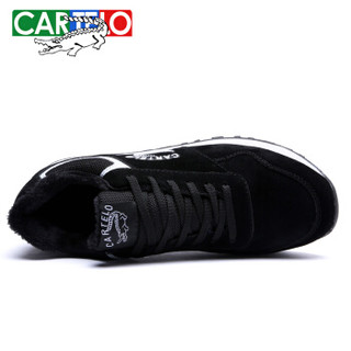CARTELO 卡帝乐鳄鱼 KDLK31 男士加绒跑步鞋 黑色 41