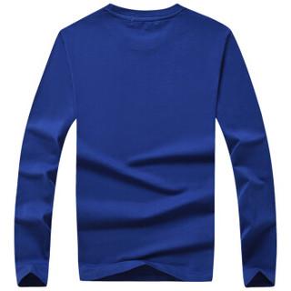CARTELO 16057KE9537 男士印花圆领长袖T恤 蓝色 M