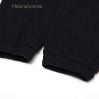 Meters bonwe 美特斯邦威 753325 男士时尚跑裤 黑色组 165/68