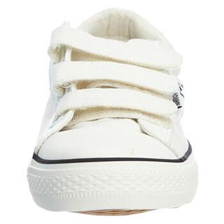 WARRIOR 回力 WXY55 情侣款低帮搭扣帆布鞋 白色 40