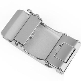 卡帝乐鳄鱼(CARTELO)男士皮带扣头男自动扣合金腰带卡扣配件3.5cm  款58黑扣