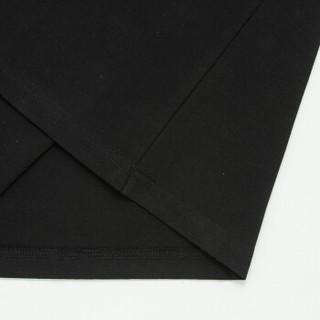 Semir 森马 19216001806 男士圆领纯色半袖T恤 黑色 L