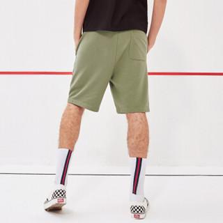 A21 4821370011 男士休闲刺绣运动五分裤 橄榄绿 XL