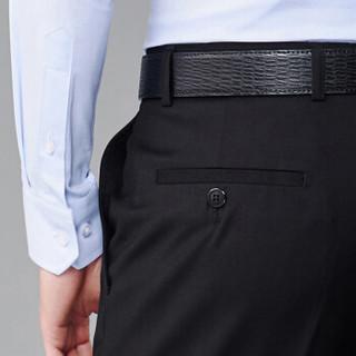 FIRS 杉杉 SNZK71019-8 男士修身西裤 黑色薄款 78