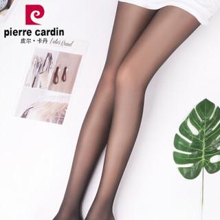 皮尔卡丹丝袜连裤袜女长筒袜薄款打底裤袜 12D凉爽纤维绢感连裤袜子 2条装 黑色 均码