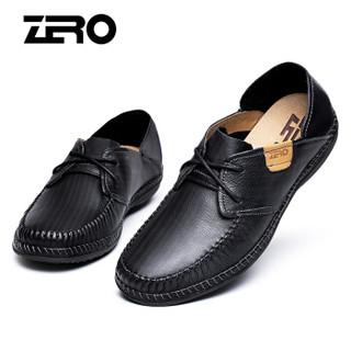 ZERO 9945 男士系带休闲皮鞋 黑色 44
