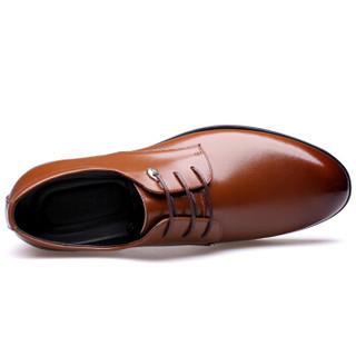 CARTELO 卡帝乐鳄鱼 511 男士商务正装皮鞋 棕色 42